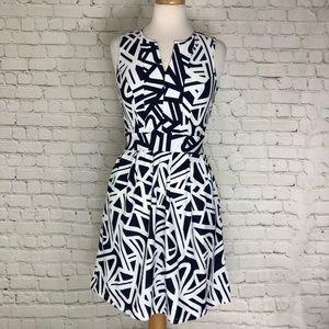 Jude Connally Dress Geometric Pattern Size XS